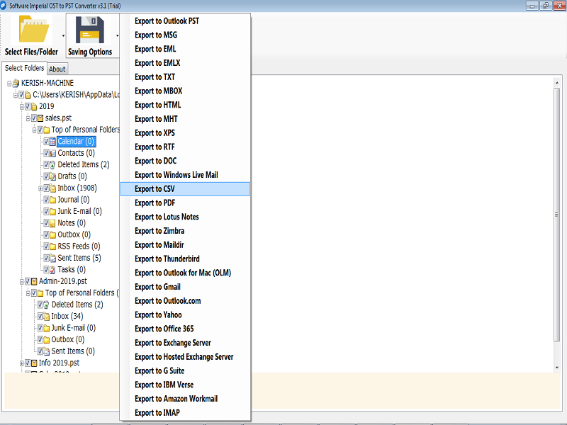 OST Converter Software full screenshot